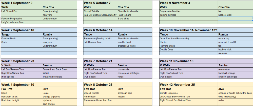 Semester Move Schedule